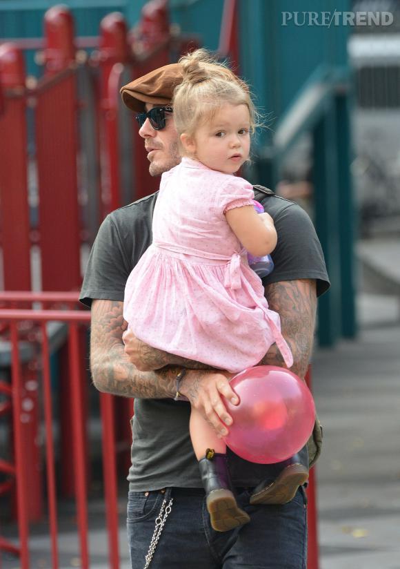 David Beckham et Harper, un duo joliment assorti.