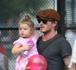 David Beckham et Harper : duo craquant pour une journee au parc