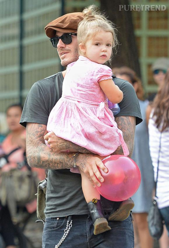 Harper Beckham, star des front rows mais aussi du jardin d'enfants.