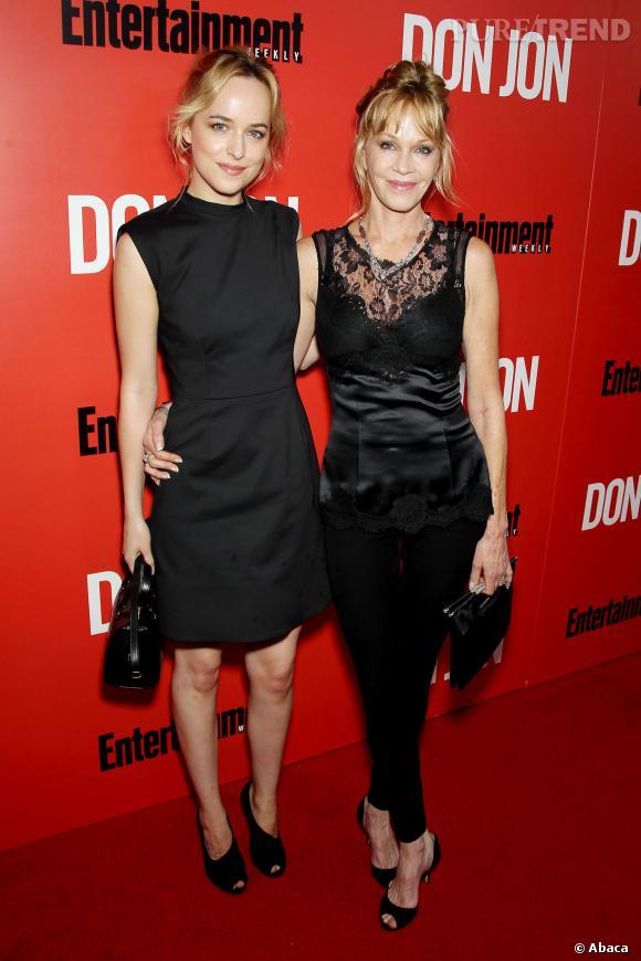 """Melanie Griffith et Dakota Johnson à la première de """"Don Jon"""" à New York le 12 septembre."""