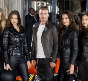 Vidéo de David Beckham à l'inauguration de la boutique Belstaff.