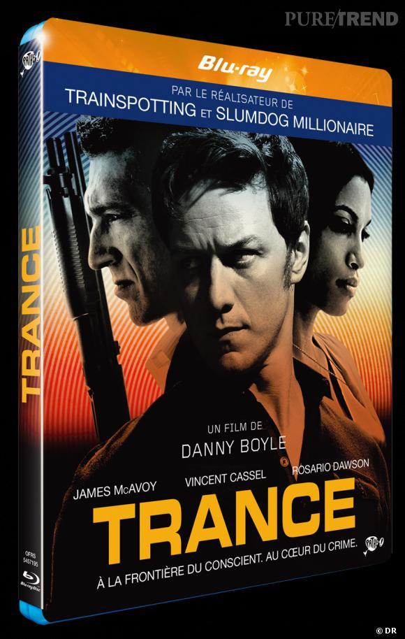 """Le DVD :  """"Trance"""".    Pourquoi lui ?  L'excellent thriller de Danny Boyle promet de vous retourner complètement la tête... Les plus courageux voudront même tester l'hypnose.    Le prix  : 24.99€ le Blu ray."""