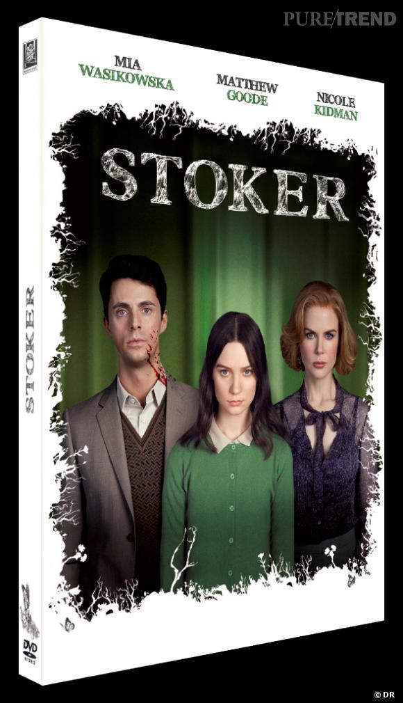 """Le DVD :  """"Stoker"""".    Pourquoi lui ?  Cet incroyable hommage à Alfred Hitchcock vous fera frissonner... de plaisir.   Le prix :  19.99 €"""