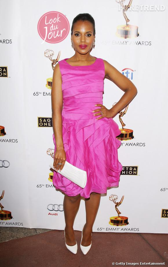Kerry Washington lors d'un diner donné en l'honneur des nominés aux Primetime Emmy Awards 2013 le mardi 17 septembre.