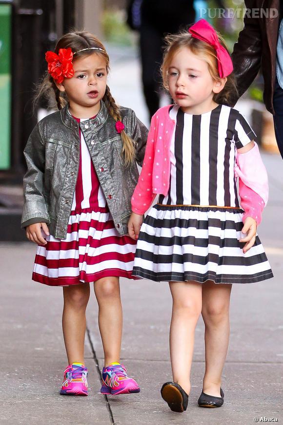 Tabitha et Marion : la petite robe rayée, adorable !