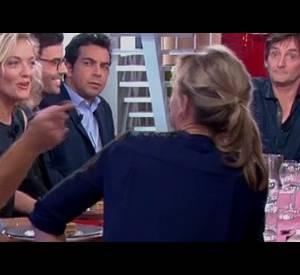 """Anne-Sophie Lapix sur le plateau de l'émission """"C à Vous""""."""