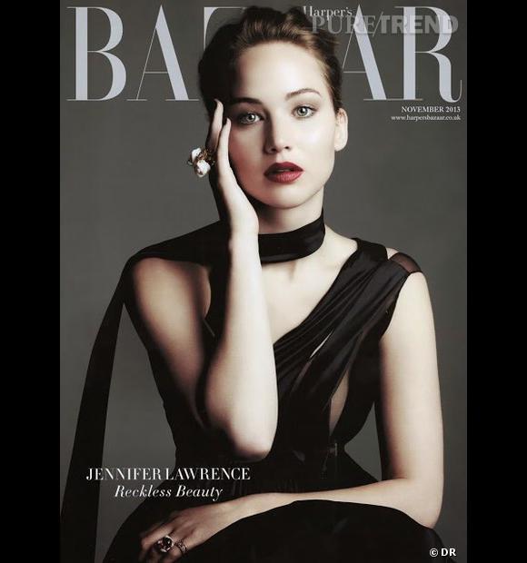 Jennifer Lawrence fait la couv du Harper's Bazaar du mois de novembre.