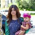 Kourtney Kardashian et sa petite Penelope, la cousine de North West.