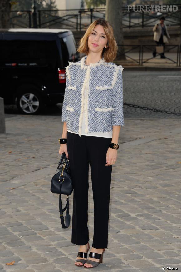 Sofia Coppola en Louis Vuitton par Marc Jacobs.