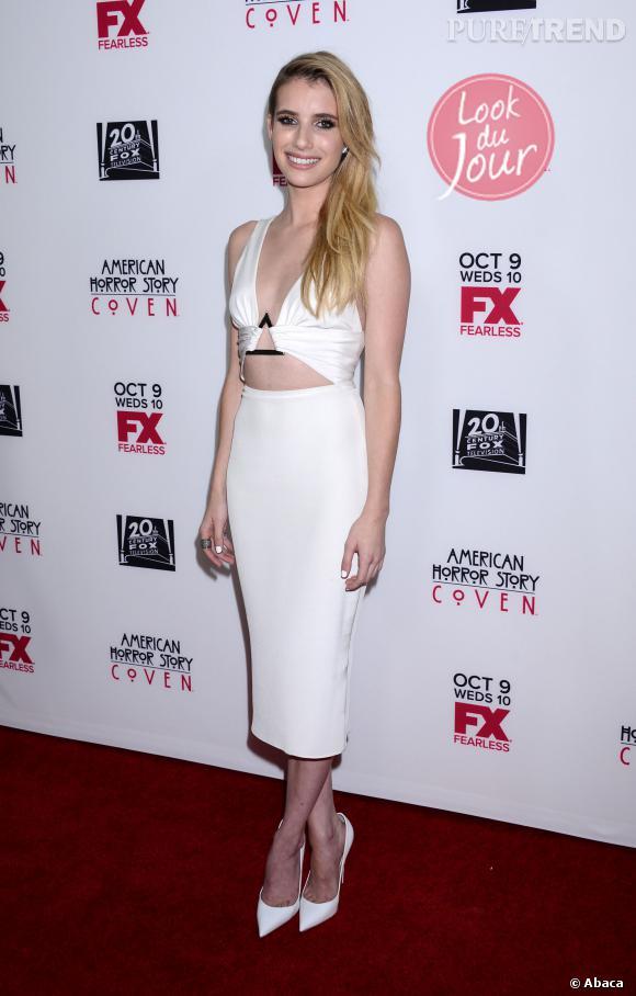 """Emma Roberts à la première de la 3ème saison de la série """"American Horror Story"""" à Hollywood."""