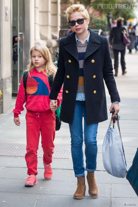 Nostalgique, Michelle Williams a emmené sa fille sur le lieu de tournage de Dawson.