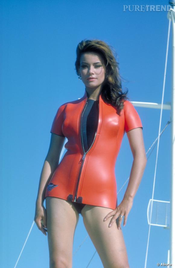 """Claudine Auger (Miss France 1958) fut la toute première James Bond Girl à jouer dans """"Opération Tonnerre"""" en 1965."""