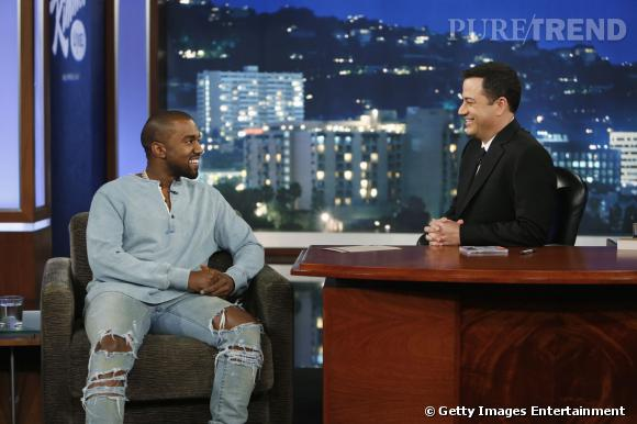 Kanye West et Jimmy Kimmel en pleine discussion.