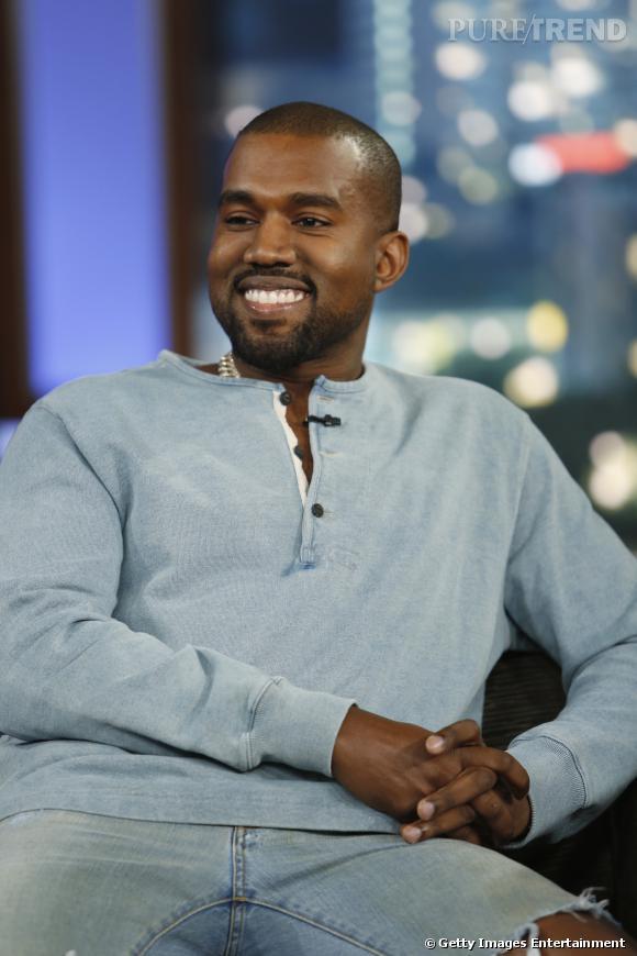 Kanye West sur le plateau de Jimmy Kimmel Live à Hollywood.