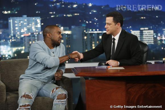 Kanye West et Jimmy Kimmel enfin réconciliés.