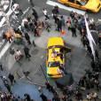 Times Square était le lieu de tournage de la campagne du Printemps-Été 2014 de DKNY.