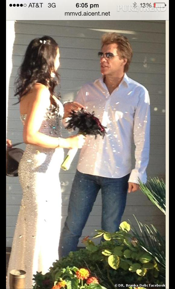 Branka Delic la jeune mariée et Jon Bon Jovi à Las Vegas.