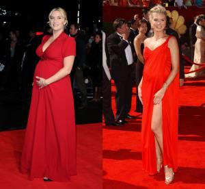 Kate Winslet vs Heidi Klum : enceintes, elle portent la longue robe rouge