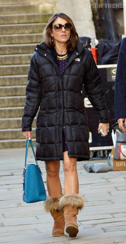 Elizabeth Hurley à Londres.