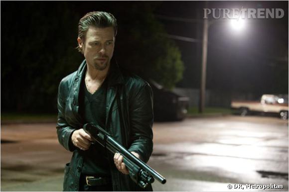 """Brad Pitt en vilain : Le film : """"Cogan"""" Le genre de vilain : Le tueur à gages, froid, sombre et légèrement cynique."""