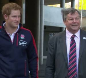 Prince Harry au rugby. On aime.