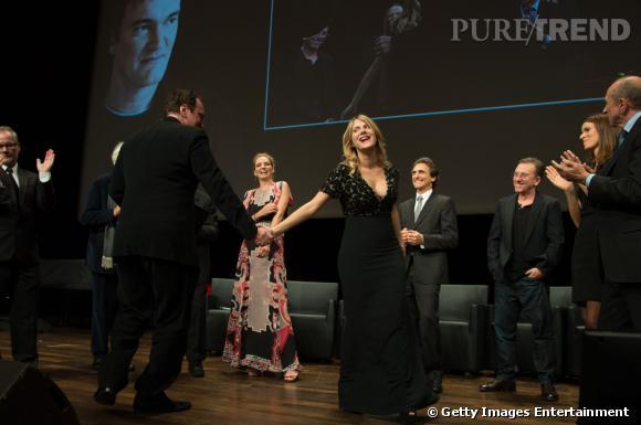 Mélanie Laurent et Quentin Tarantino dansent ensemble sur scène au Festival du Prix Lumière.