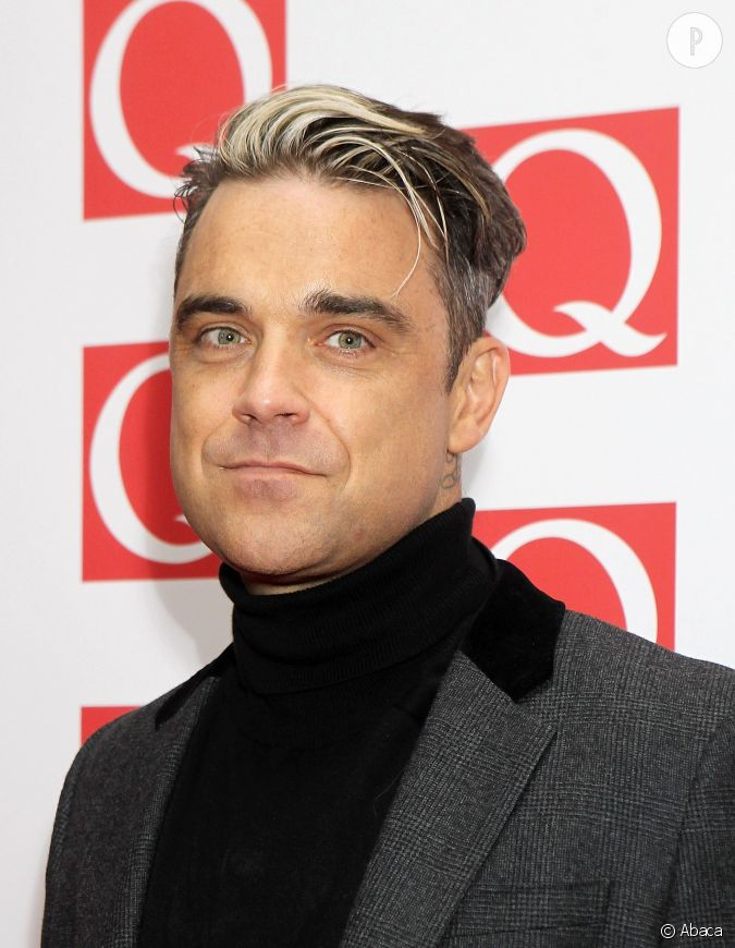 Robbie williams et sa m che blanche - Meche rouge homme ...