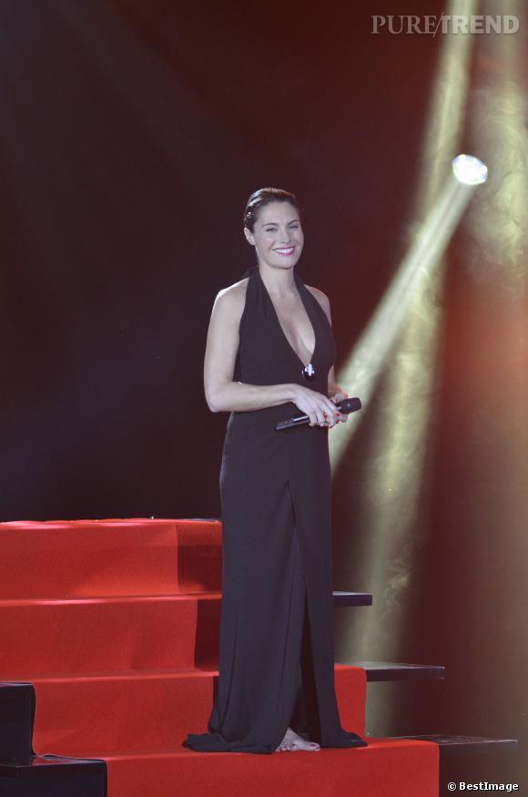 Alessandra Sublet, sublime décolleté aux Victoires de la musique 2012.