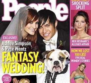 Ashlee Simpson et Pete Wentz pour People.