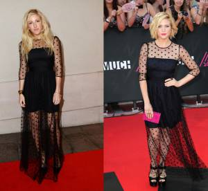 Ellie Goulding vs Brittany Snow : la robe transparente Temperley London