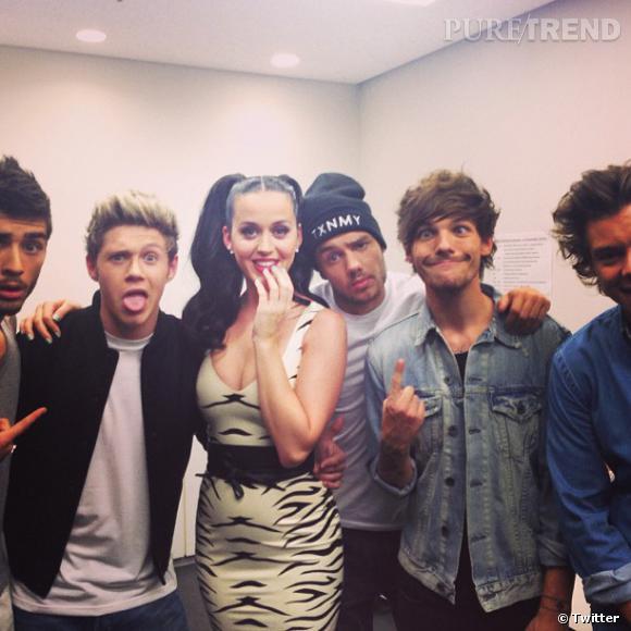 Les One Direction ont rencontré Katy Perry ! Et ça leur a fait tout drôle.