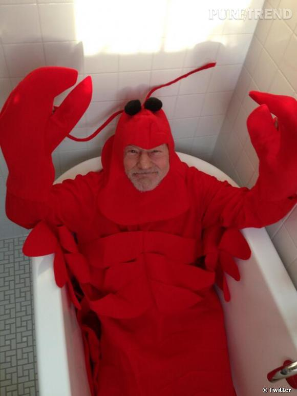 Patrick Stewart en homard, on ne s'y attendait pas !