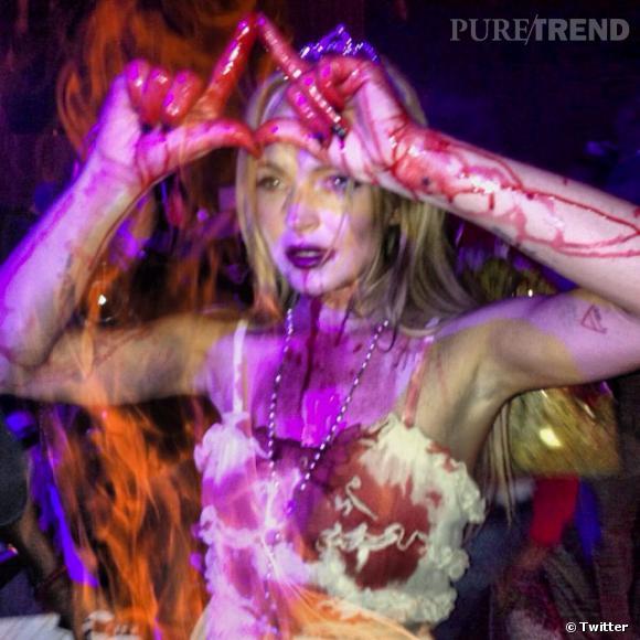"""C'est en """"Carrie"""" que Lindsay Lohan a décidé de se déguiser."""