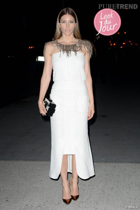 Jessica Biel à la soirée du MoMA 2013 Tribute du Tilda Swinton.