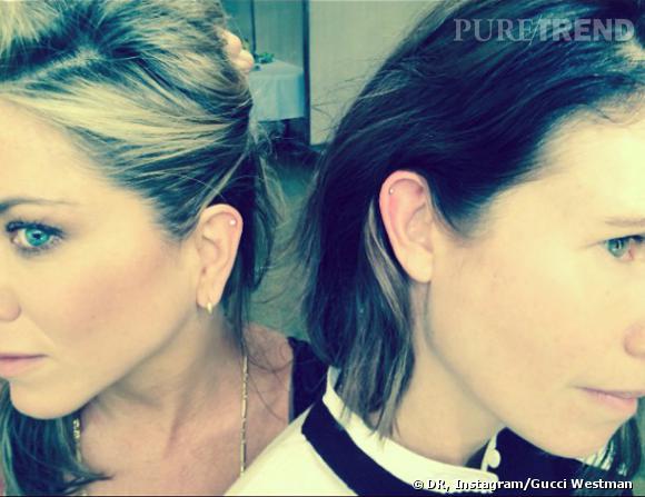 Jennifer Aniston et Gucci Westman affichent leurs nouveaux piercings à l'oreille...