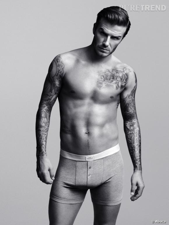Le look en boxer :  Et oui, c'est bien en boxer H&M que David Beckham nous fait le plus craquer !