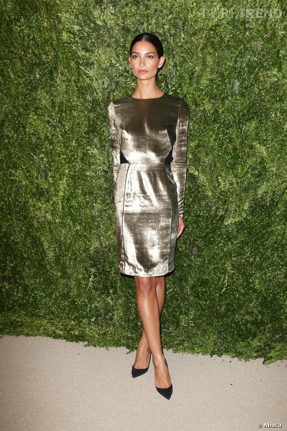 Lily Aldridge à la cérémonie des CFDA/Vogue Fashion Fund Awards 2013.