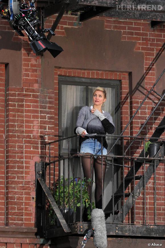 Cameron Diaz mèches blondes et look destroy, l'actrice a eu le droit à un petit relooking.