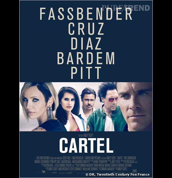 """""""Cartel"""" avec Michael Fassbender, Brad Pitt et Javier Bardem."""