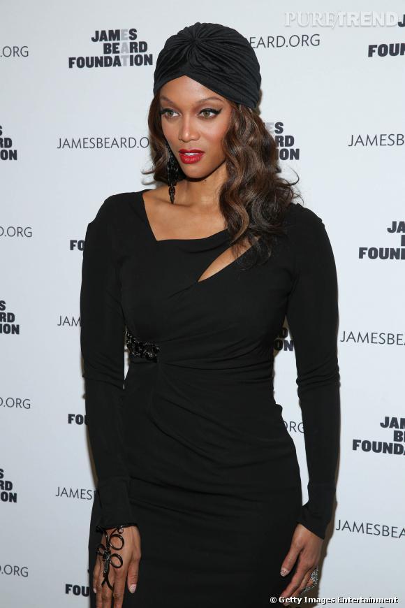 Tyra Banks au gala Women In Whites de la fondation James Beard à New York.