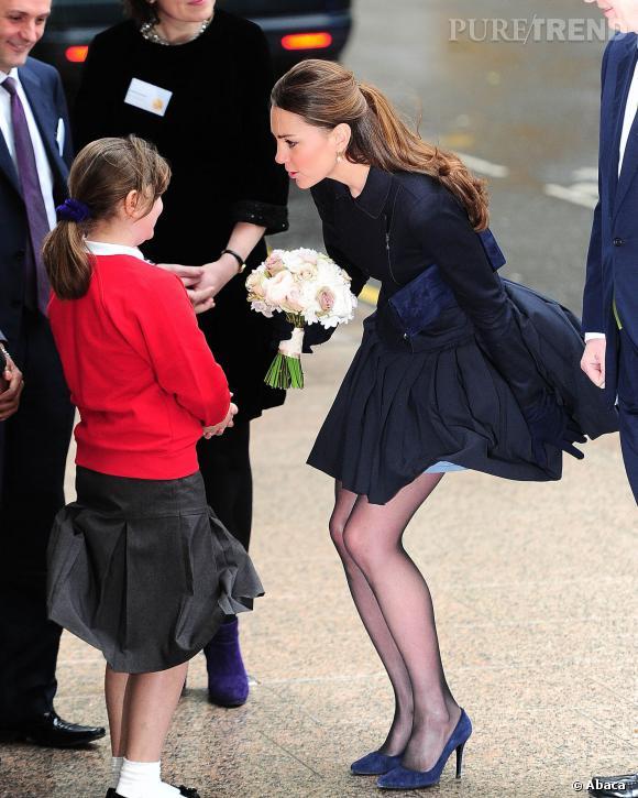 Oups ! Kate Middleton et sa jupe volante mercredi dernier.