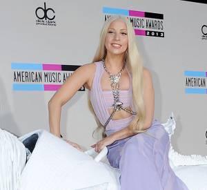 Lady Gaga a fait forte impression en arrivant aux American Music Awards 2013, perchée sur un faux cheval.