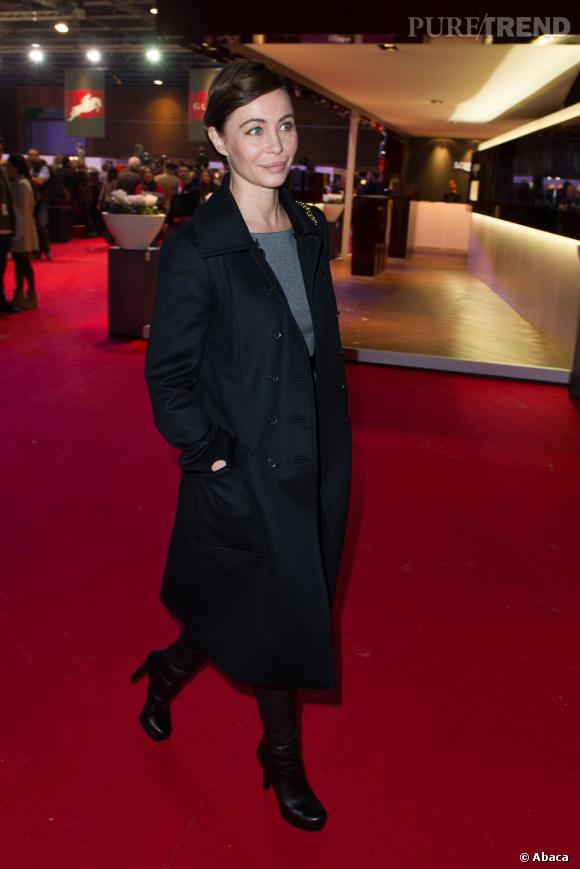Emmanuelle Béart lors du dernier jour des Gucci Paris Masters...