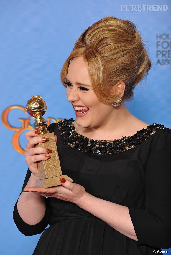 Adele et sa coiffure qui ne manque pas d'air !