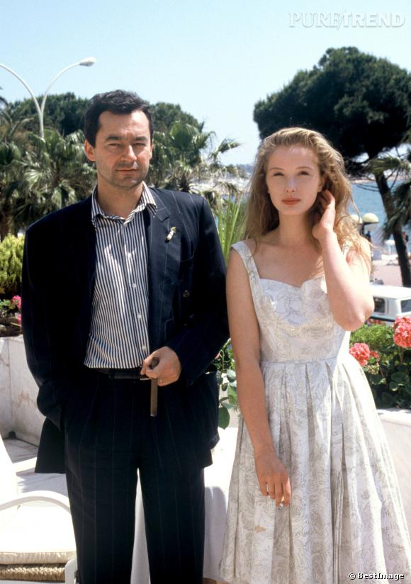 Julie Delpy et Michel Denisot au Festival de Cannes, en 1988.