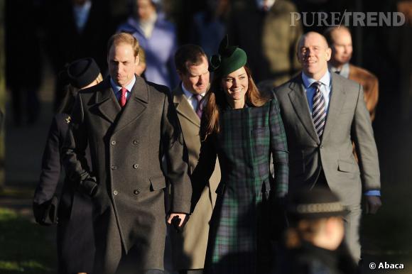 Kate Middleton et le Prince William lors de la messe de Noël le 25 décembre.