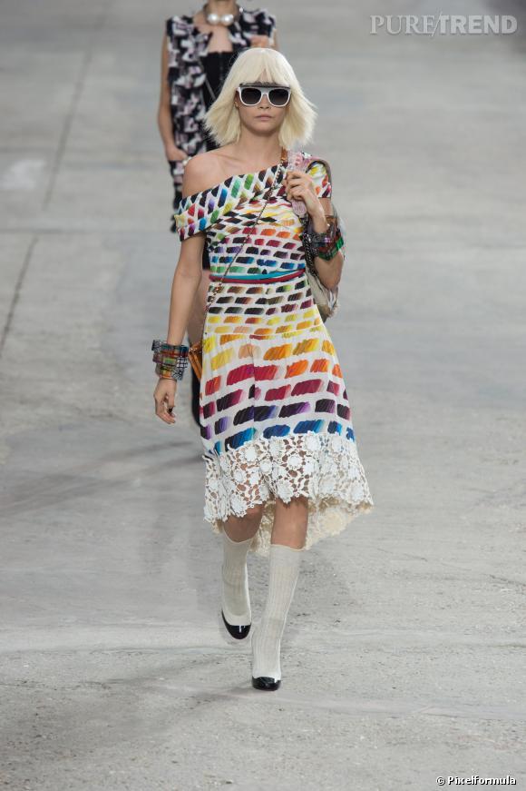 Ce qu'il faut porter en 2014 :  l'imprimé arty visité par Chanel.