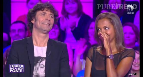 """Karine Le Marchand a fait le buzz lors de l'émission """"Touche pas à mon poste""""..."""
