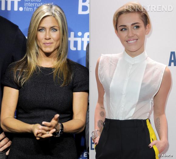 Jennifer Aniston et Miley Cyrus : entre elles c'est la guerre... pour un coiffeur !