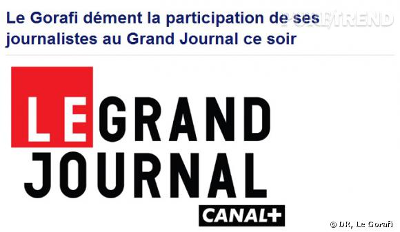 Le Gorafi au Grand Journal ? Le site dément.